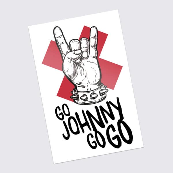 Johnny Be Good - Sticker Go Johnny Go