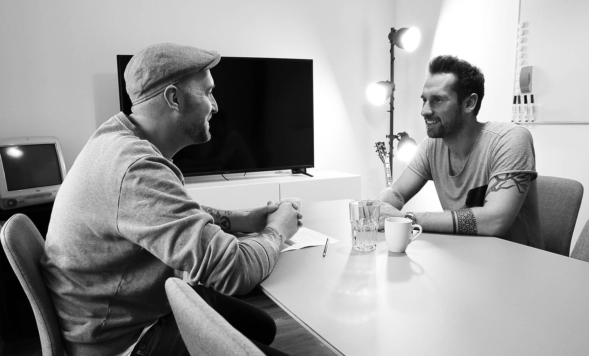 Florian Kozak von Johnny Be Good und Daniel Horak von Conda im Interview über Startups und Branding