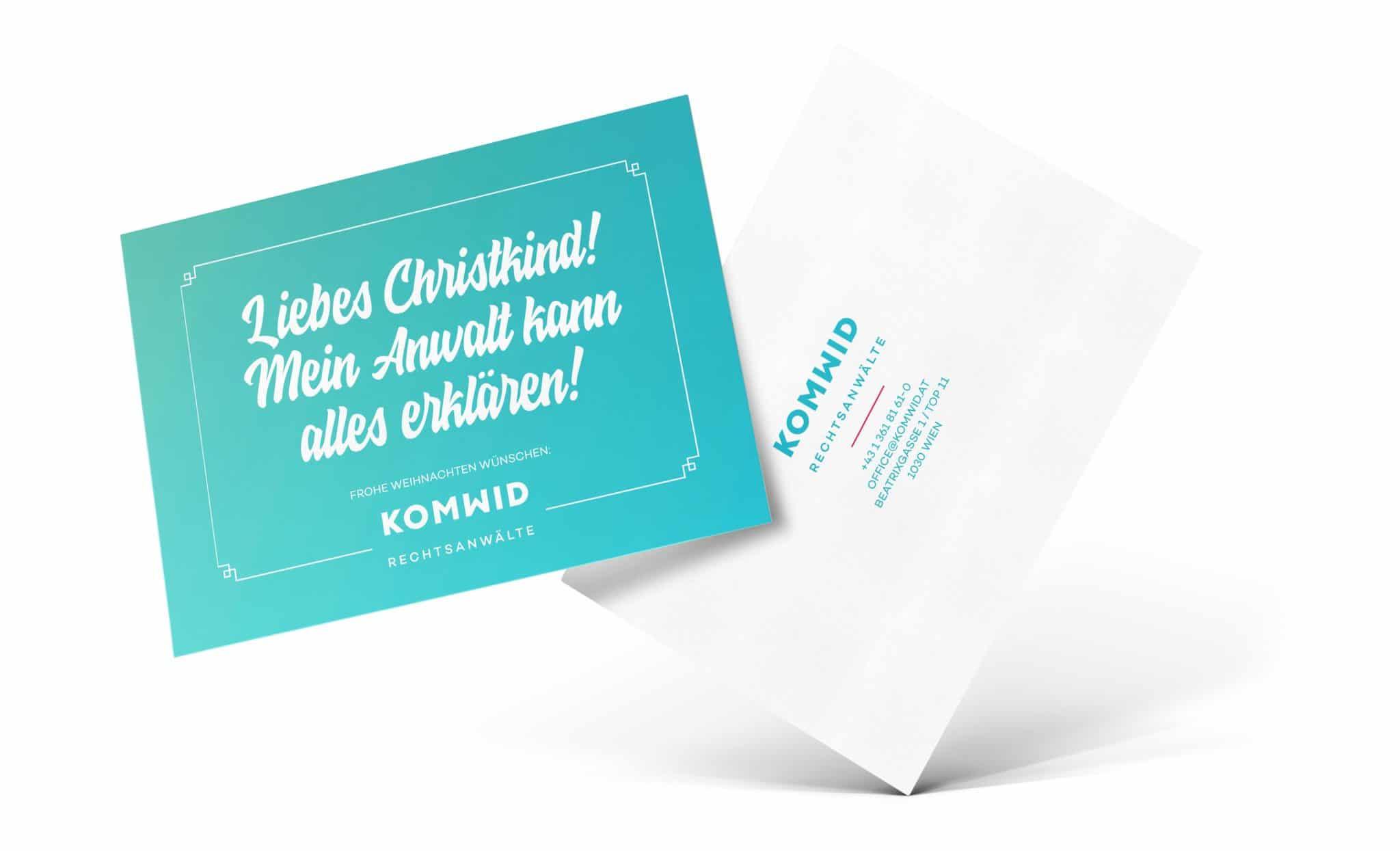 Komwid Rechtsanwälte Weihnachtskarte