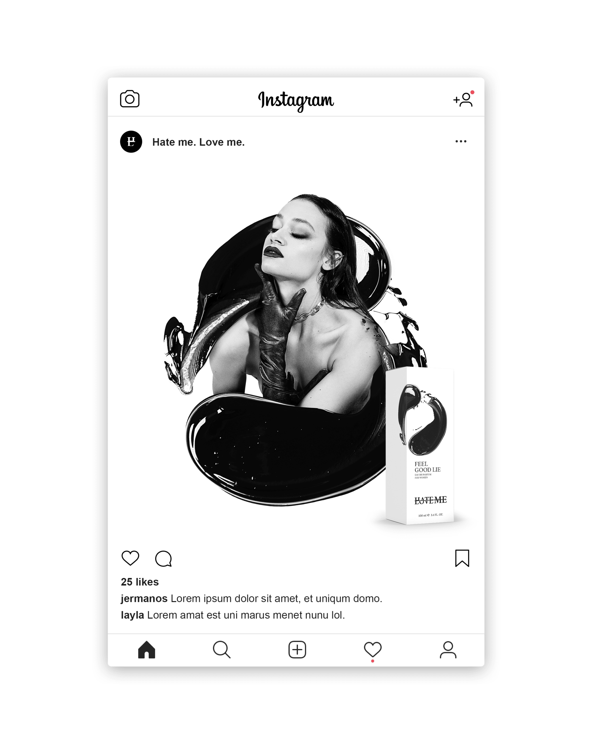Hate Me Love Me – Social Media Framework by Johnny Be Good Werbeagentur
